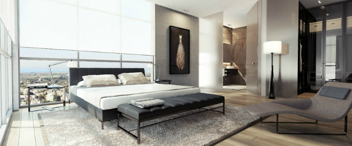 Perfect contemporary gray rooms that we love Perfect contemporary gray rooms that we love 1 Black white gray bedroom decor luxury modern1