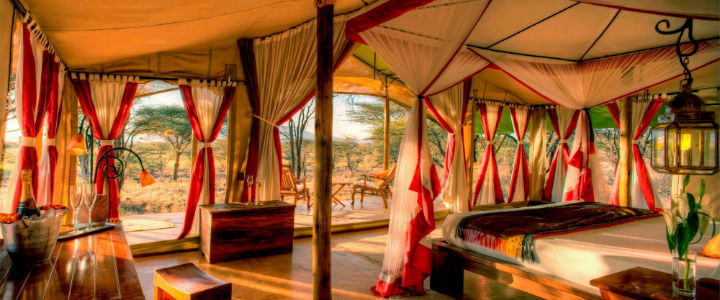 10 Incredible Extravagant Outdoor Beds never seen before 10 Incredible Extravagant Outdoor Beds never seen before Tents at Joys Camp Shaba National Reserve Kenya outdoor bed extravagant featured