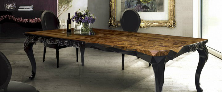 6 elegant wood dining room tables 6 elegant wood dining room tables 6 elegant wood dining room tables MESA ROYAL BOCA DO LOBO