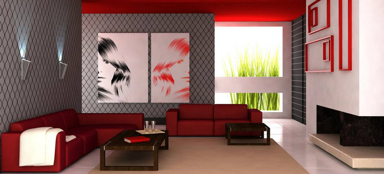 How to make your living room a contemporary space How to make your living room a contemporary space using red1