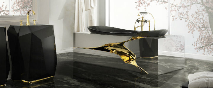 luxury bathroom design ideas 10 BLACK LUXURY BATHROOM DESIGN IDEAS 7 lapiaz bathtub diamond freestand maison valentina HR