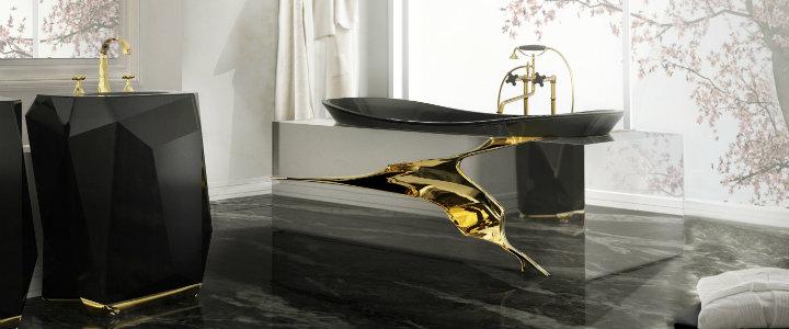 luxury bathroom design ideas 10 BLACK LUXURY BATHROOM DESIGN IDEAS 7 lapiaz bathtub diamond freestand maison valentina HR