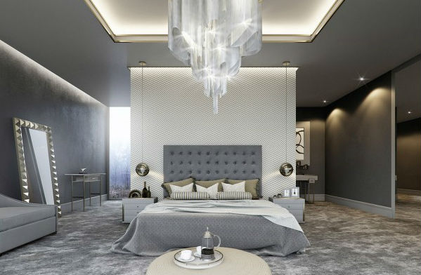 Luxury Bedroom with Grey Details