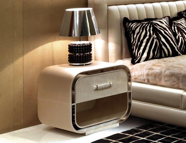 Modern Beige Bedside Table