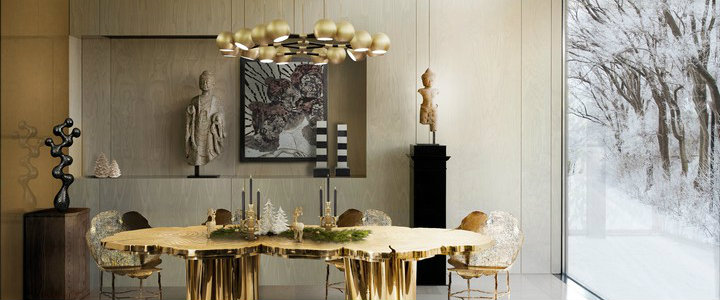 25 Luxury Dining Room With Gold Details, Gold Dining Room Ideas