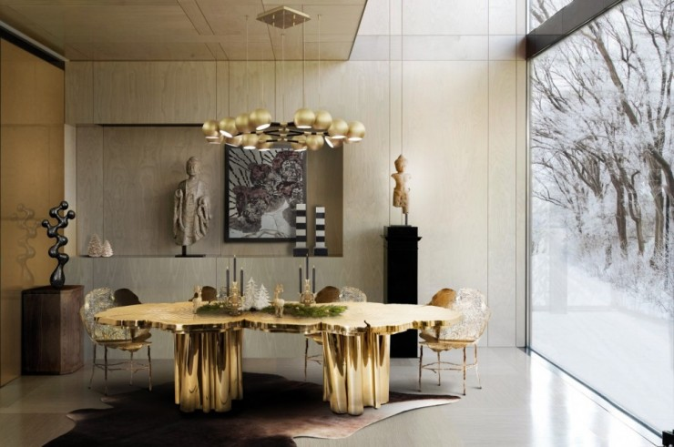 Boca do Lobo Fortuna Dining Table Dining Rooms Top 10 Dramatic Dining Rooms Boca do Lobo Fortuna Dining Table e1458813731874