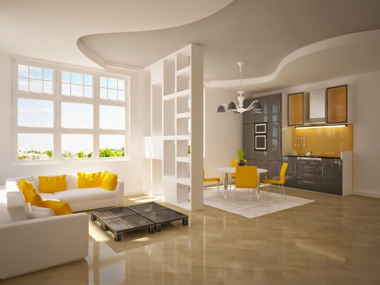 Yellow accents in a modern penthouse yellow details How to Decorate with Yellow Details Yellow accents in a modern penthouse e1462879163896