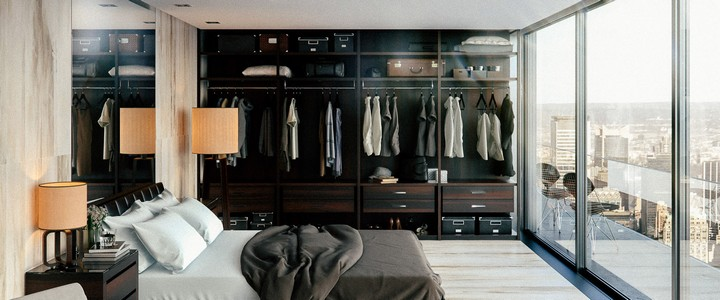 luxury master bedrooms Inspiring Closets for Luxury Master Bedrooms sophisticated open closet ideas