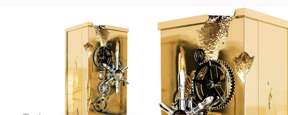 The Gold Rush and Millionaire Luxury Safe by Boca do Lobo