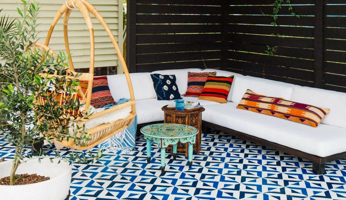 Moroccan-Inspired Mosaic Floor Tiles For A Dreamy Outdoor Patio