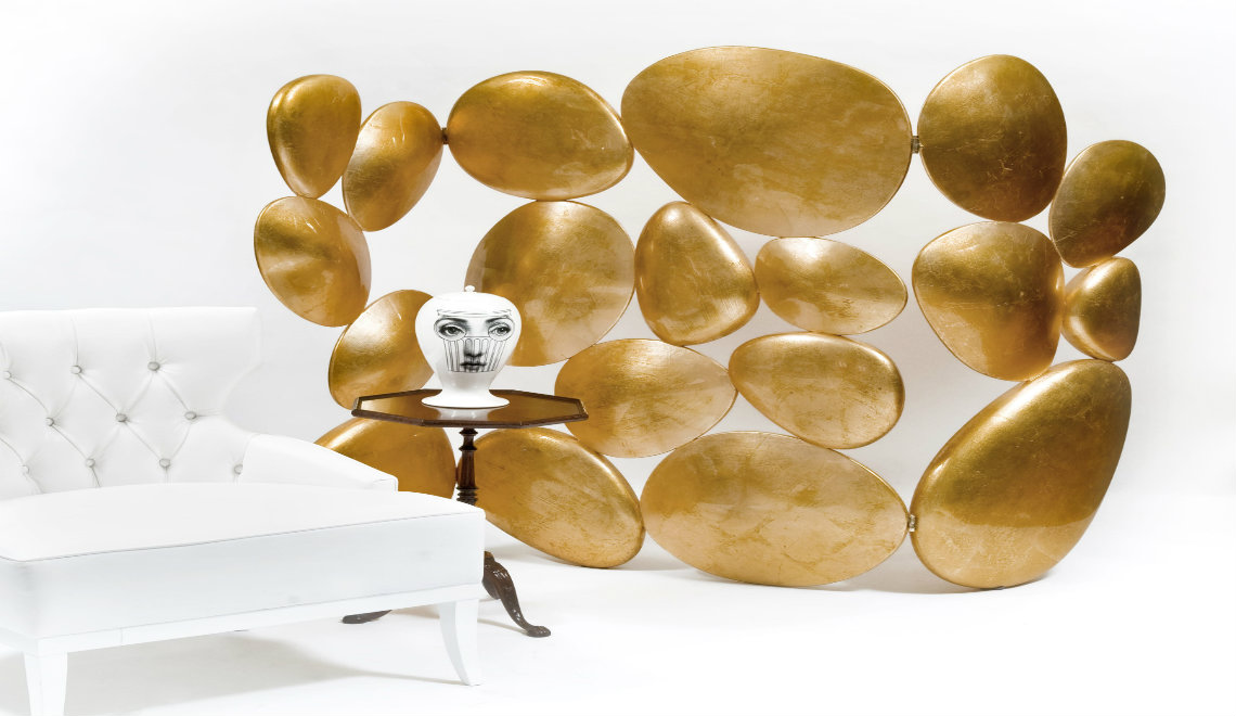 folding screen Exclusive Home Décor: The Gold Folding Screen by Boca do Lobo gold 04