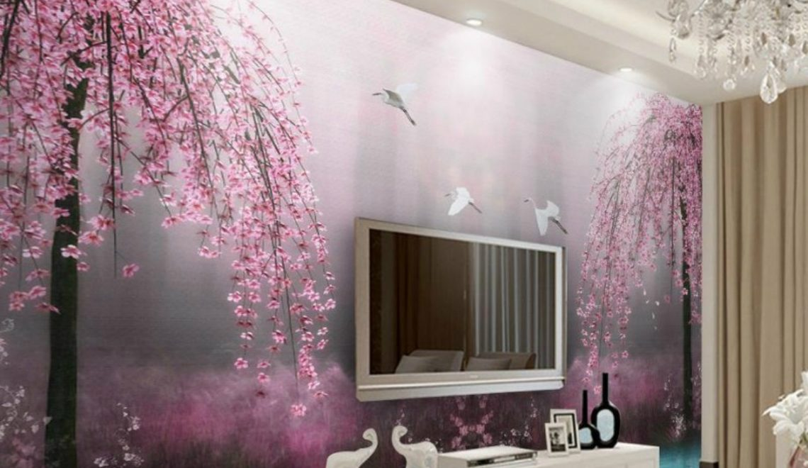 wallpaper ideas Modern Wallpaper Ideas For Your Living Room landscape featured 1140x660