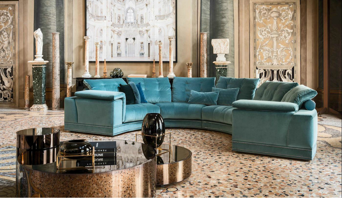 salone del mobile All You Need To Know About Salone Del Mobile 2019 FF Andrew sectional sofa Constellation coffee side tables 1