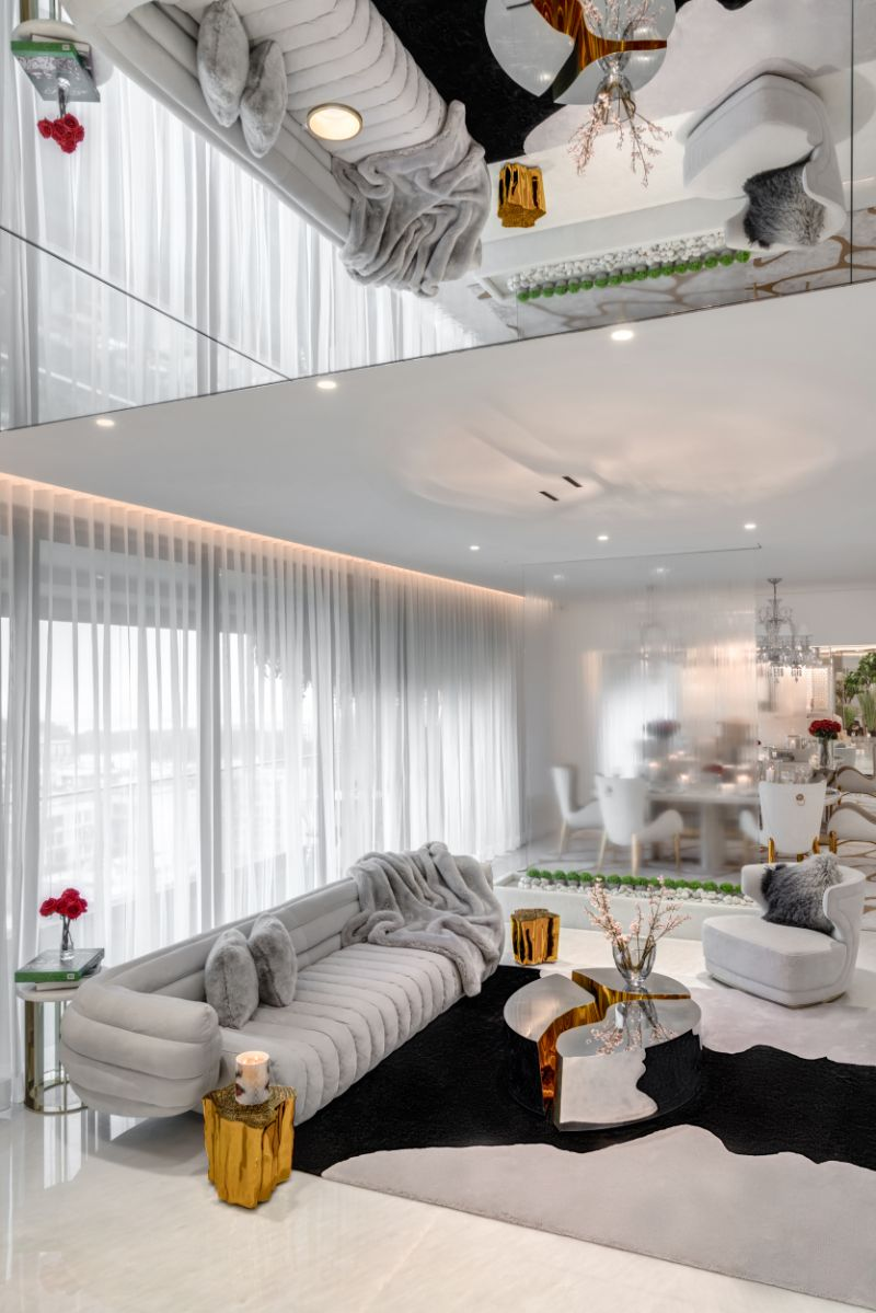 Home Design With A Fusion Of Classical & Modern Glam (3) home design A Reflective White and Gold Trendsetting Home Design Home Design With A Fusion Of Classical Modern Glam 3