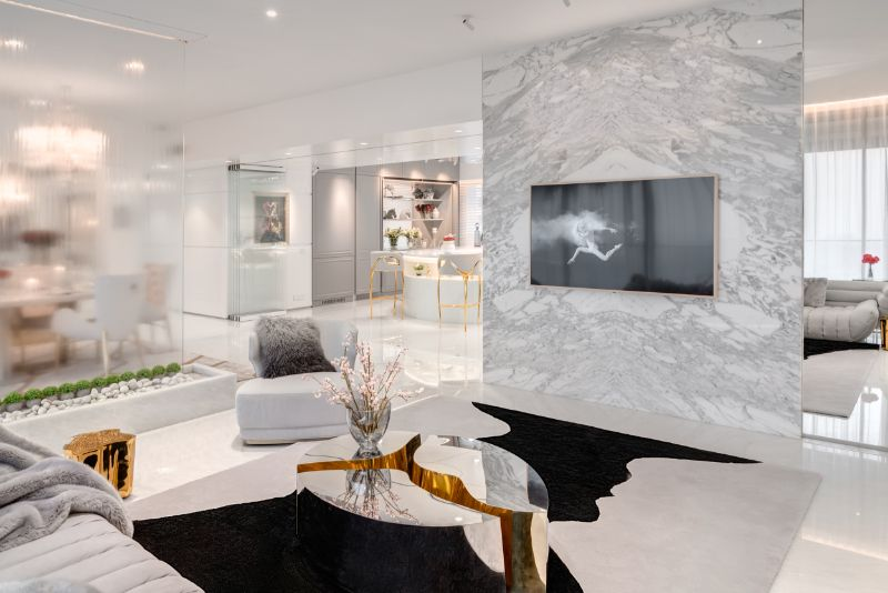 Home Design With A Fusion Of Classical & Modern Glam (4) home design A Reflective White and Gold Trendsetting Home Design Home Design With A Fusion Of Classical Modern Glam 4