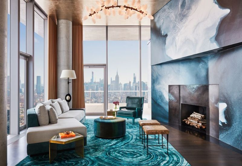 Living In The Clouds - A Modern New York Apartment (2) new york apartment A Modern New York Apartment That Overlooks The City's Skyline Living In The Clouds A Modern New York Apartment 2