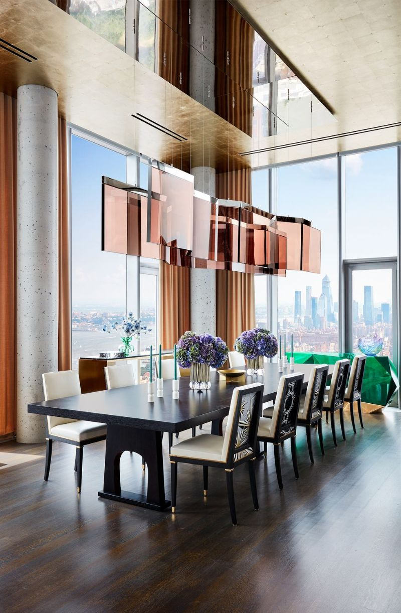 Living In The Clouds - A Modern New York Apartment (6) new york apartment A Modern New York Apartment That Overlooks The City's Skyline Living In The Clouds A Modern New York Apartment 6