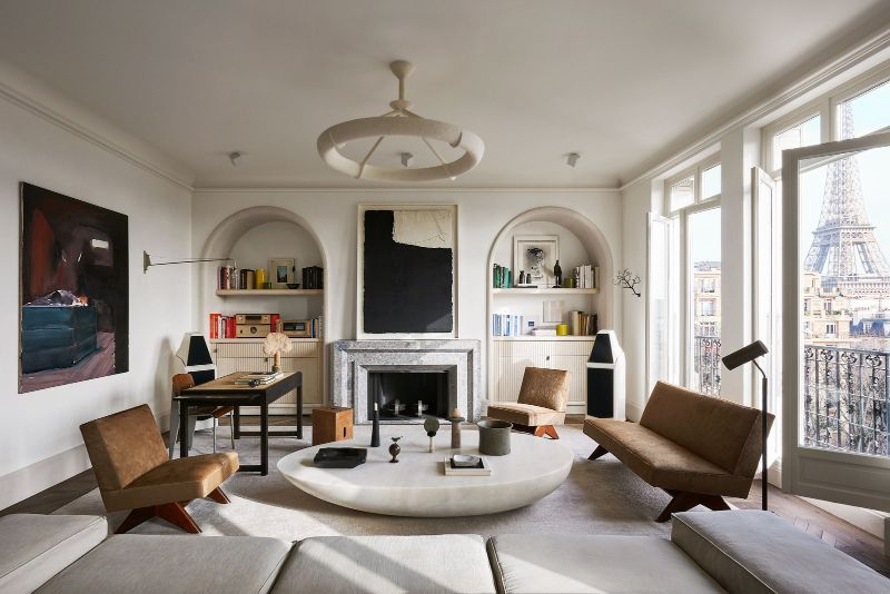 Joseph Dirand Designs Calm And Subtle Paris Apartment (1) joseph dirand Joseph Dirand's Paris Apartment Doubles As A Marble Wonder Joseph Dirand Designs Calm And Subtle Paris Apartment 1