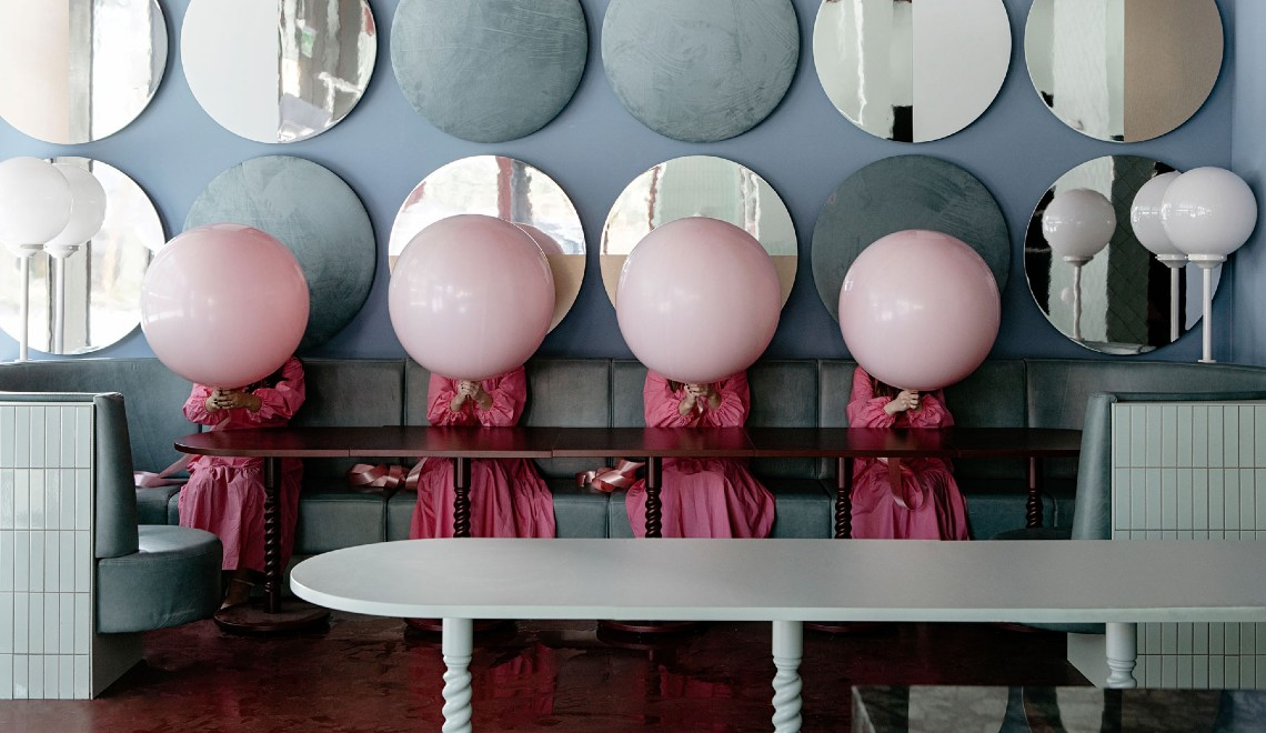 Bubblegum Pink Vibes Are The Norm For This Restaurant Design