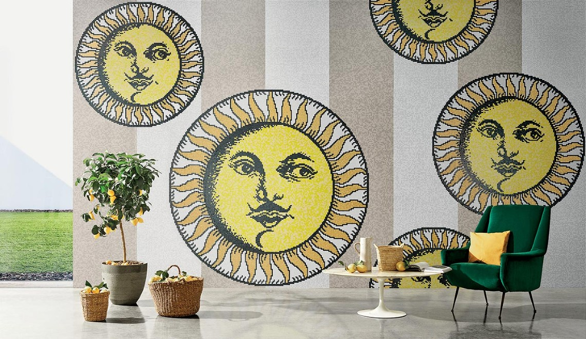 Bisazza and Fornasetti Team Up To Create Striking Mosaic Panels