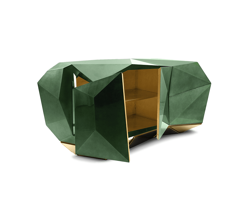 dining room design Dining Room Designs We Found On Instagram That You'll Love! diamond emerald sideboard 01 boca do lobo