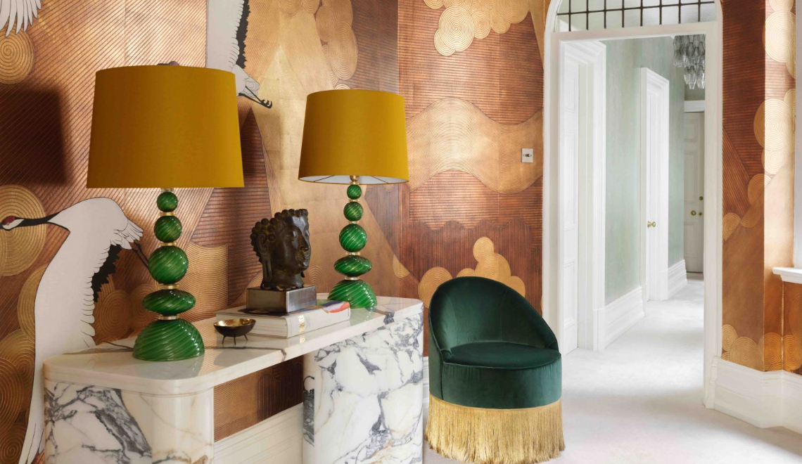 A London Apartment Where Art and Wallpaper Add Depth To The Interiors