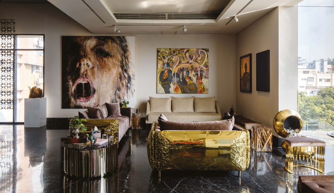 A Luxury Residence With Exquisite Art Furniture And Overall Grandeur
