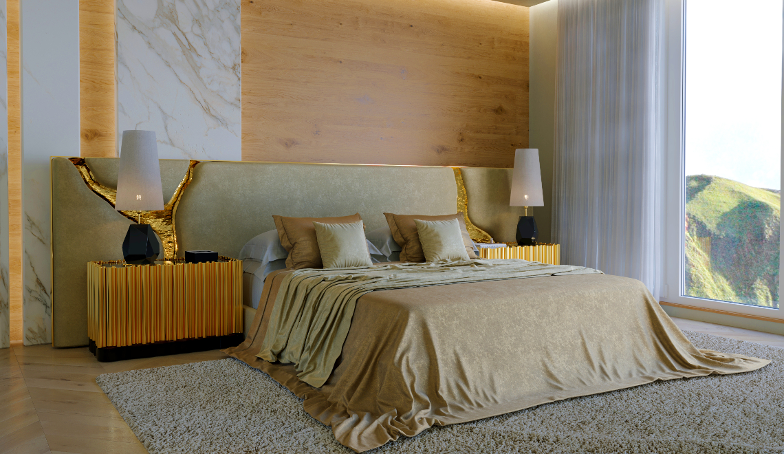 modern headboard Make Your Bedroom Golden and Dreamy With This New Modern Headboard feature image 2020 11 24T164454
