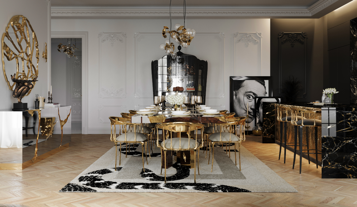 A Luxury Dining Room Inside A Multi-Million Dollar Penthouse