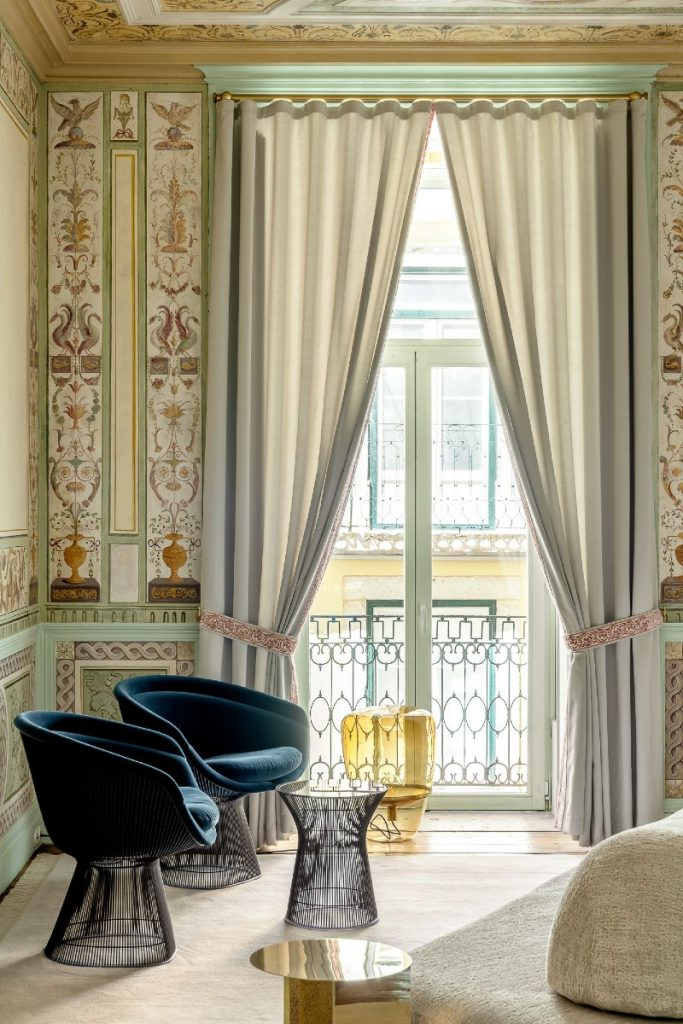 heritage hotel Take A Look Inside: Heritage Hotel Into An Opulent Lisbon Apartment ESQVTA Mamede Heritage Apartment Renovation Lisbon Photo Ricardo Oliveira Alves Yellowtrace 01 1 683x1024