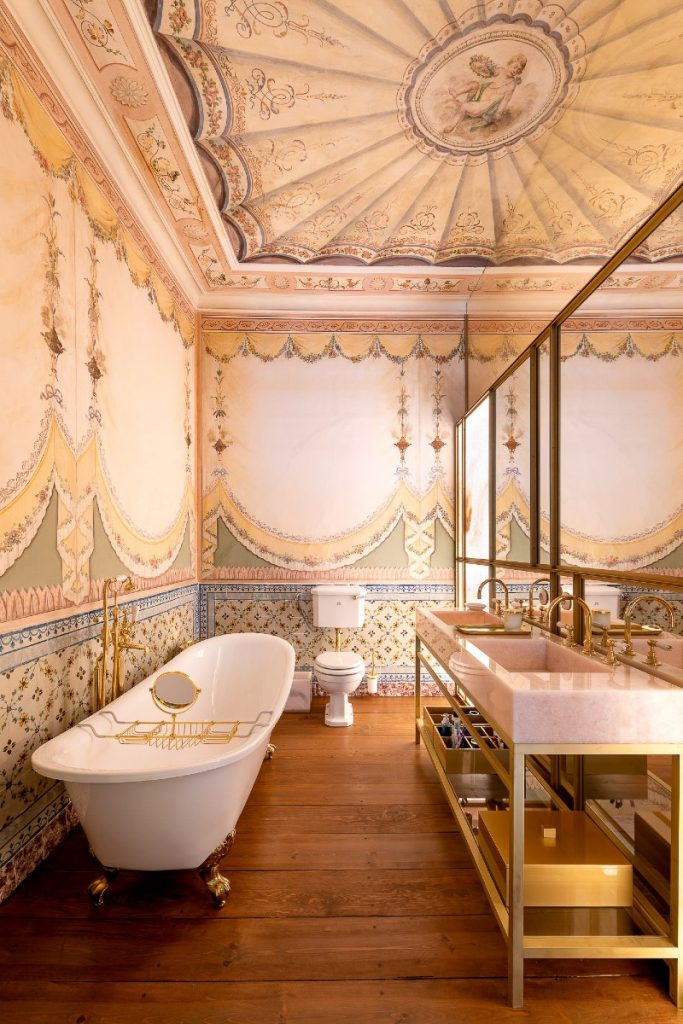 heritage hotel Take A Look Inside: Heritage Hotel Into An Opulent Lisbon Apartment ESQVTA Mamede Heritage Apartment Renovation Lisbon Photo Ricardo Oliveira Alves Yellowtrace 11 1 683x1024