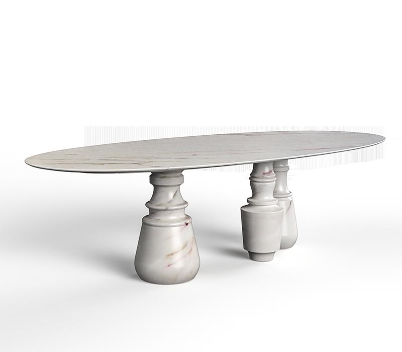 marble design Marble Design For Your Contemporary Home pietra oval xl estremoz dining table 01 boca do lobo