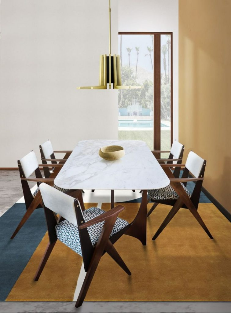 modern dining table 20 Modern Dining Tables For Your Contemporary Dining Room essential home 756x1024