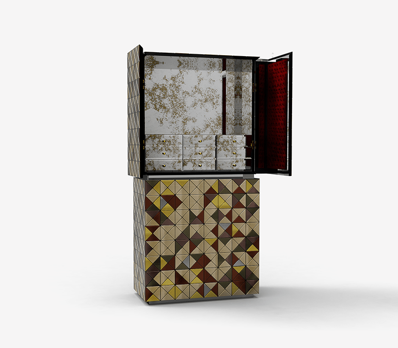 luxury cabinets 10 Luxury Cabinets To Upscale Your Home Decor By Boca do Lobo pixel anodized cabinet 03 boca do lobo 1