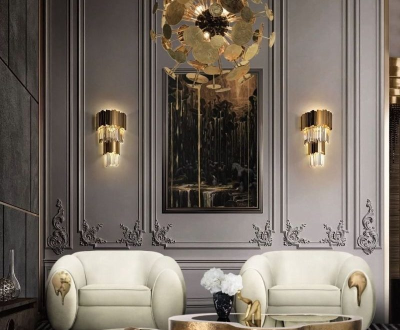 luxury home Modern Inspirations For a Luxury Home Design bl gold contemporary design 800x660