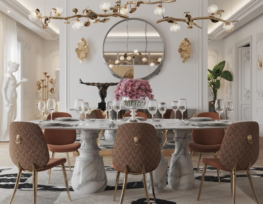 luxury interior Luxury Interior For A Sophisticated Home bl modern dining room 1 850x660